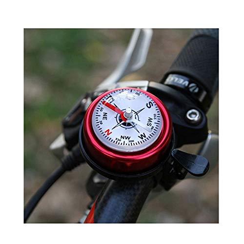 YLL Fahrradklingel mit Kompass Vintage Fahrrad-Bell-Erwachsener Retro Laute Hupe Fahrradklingel linker Hand der rechten Hand-Kind-Klein Sport im Freien (Farbe : Rot)