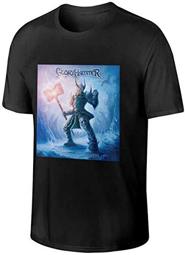 Gloryhammer Music Men Tops Short Sleeve T Shirts,Black,6X-Large