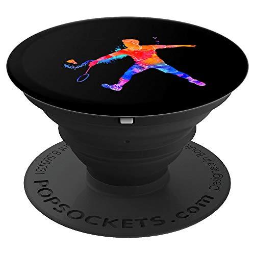 Geschenk für Badminton Spieler Team Mannschaft - PopSockets Ausziehbarer Sockel und Griff für Smartphones und Tablets