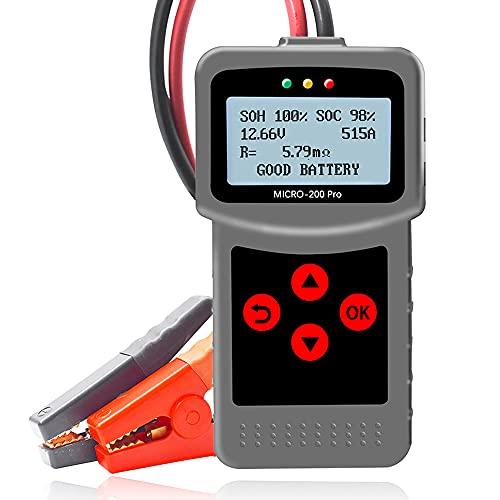 MICRO-200 Pro Batterietester Auto 12V KFZ Batterietester, 40-2000 CCA 3-220Ah Autobatterie Testgerät für Motorrad, Auto, Boots