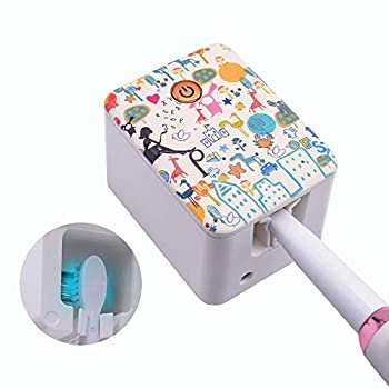 Toothbrush Holder Saniti zer with Toothbrushes Clean Function and Power-Saving U VC Lamp Beads Travel Toothbrush Case Wall Mount Rechargeable Toothbrush Sterili zer for Bathroom  Fairy Tale