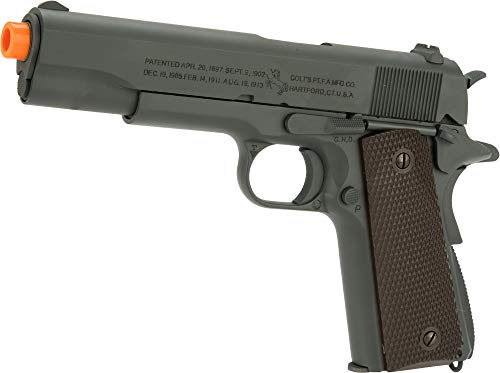 Evike Officially Licensed Colt 1911A1 Pistol with Parkerized Finish by Cybergun