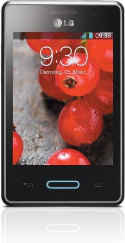 LG E430 Optimus L3 II Smartphone (8,1 cm (3,2 Zoll) Touchscreen, 1GHz, 512MB RAM, 3,2 Megapixel Kamera, Android 4.1) metallisch-schwarz