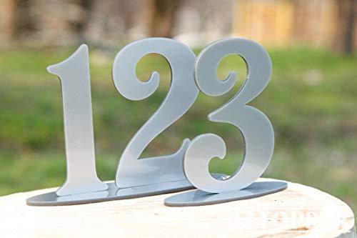 Zilveren Tafelnummers Bruiloft, Bruiloft Tafel Decor, Bruiloft middenstukken, Acryl Tafelnummers, Bruiloft Tafelnummers, Evenement Tafelnummers, Teken