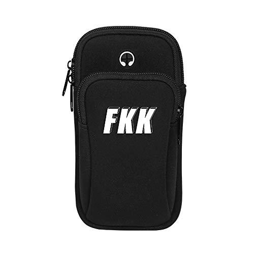 Bolso deportivo Correr al aire libre con bolsa de teléfono móvil bolsa de brazo de teléfono móvil cinturón deportivo de fitness cinturón hombres y mujeres bolsa de teléfono móvil bolsa de muñeca Bolso