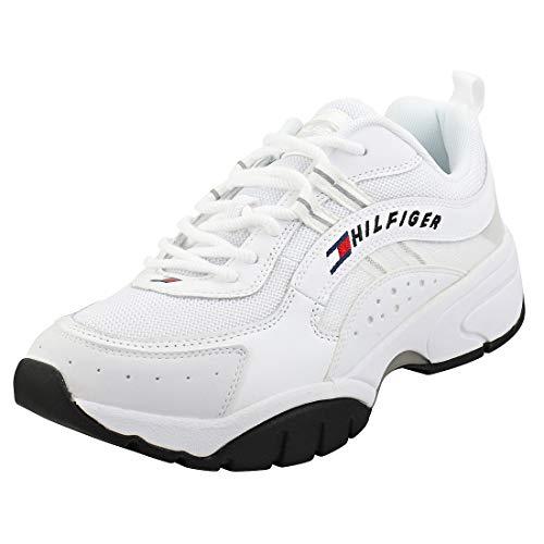 Tommy Jeans Heritage Runner Witte Sneakers Voor Heren