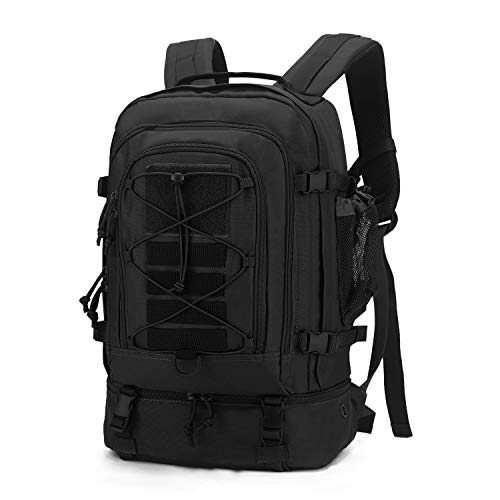 Mardingtop 28L Tactical Backpacks Molle Hiking daypacks for Motorcycle Camping Hiking Military Traveling 28L-Black