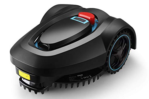 swift RM18 28V Robotic Lawnmower AutoCharging Self-Propelled 18cm Cut Width and 20-60mm Cutting Heights Robot Lawn Mower with Samsung Battery for Lawns up to 600m² include garage