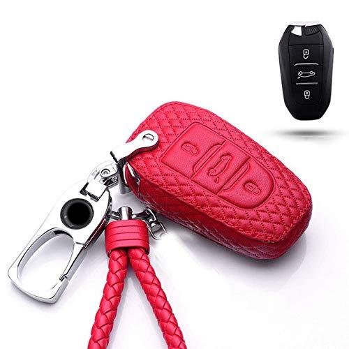 TGHYJU Carcasa Llave Car Key Fob Cover Key Case Custom PU Car Key Case Key Cover, para Citroen Ds6 / Ds5 / Ds3 / Ds4 / Ds7 5Ls / DS 4S Llavero Accesorios De Coche Estuche para Llaves para Coche