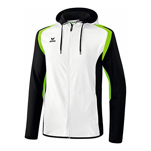 erima Herren Razor 2.0 Trainingsjacke mit Kapuze, Weiß/Schwarz/Gr, L