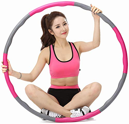 Photo of llk Hoola Hoop for Adults – 8 Section Detachable Hoola Hoops, Premium Quality and Soft Padding Weighted Hoop, Easy to Spin