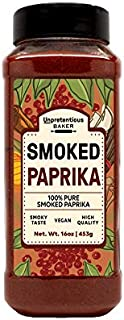 Smoked Paprika, 16 oz. by Unpretentious Baker, A Flavorful Ground Spice Made from Dried Red Chili Peppers, Wood Smoked for a Strong & Smoked Flavor, Convenient Shaker Bottle
