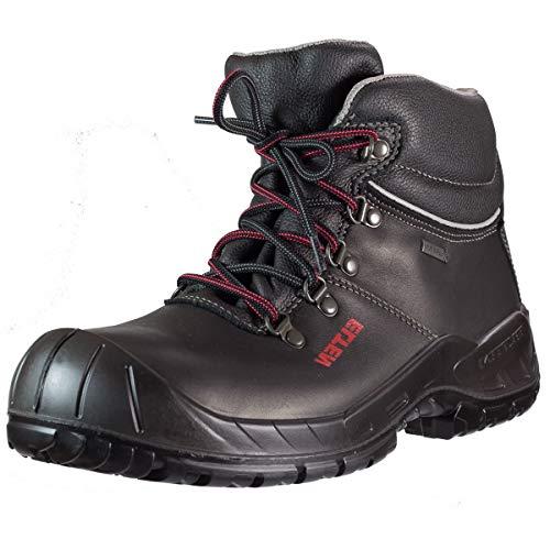 ELTEN Sicherheitsschuhe RENZO GTX Mid ESD S3, Herren, leicht, schwarz, Stahlkappe, Kälteisolierung, Gore-Tex, Wasserdicht, Atmungsaktiv - Größe 42