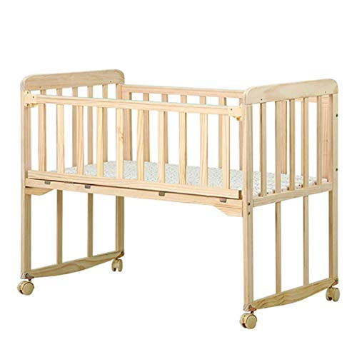Best Price HIZLJJ Toddler Bed for Boys & Girls,Solid Wood Crib,Multifunctional Newborn Bed Baby