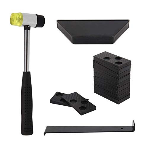 Youyijia Laminate Flooring Kit Wood Flooring Installation Tools with 20 Spacers, Tapping Block,...