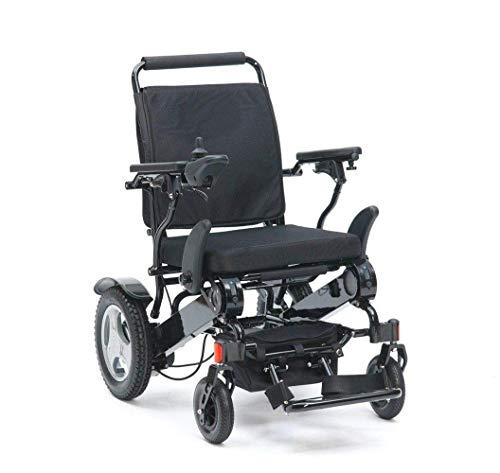 Nadaenw Lichtgewicht aluminium legering elektrische rolstoel draagbare doorrijd-reisstoel opvouwbare rolstoel voor binnen en buiten lithiumbatterij
