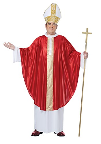 California Costumes Herren Übergröße Der Papst His Divine Holiness Plus - Rot - Mehr
