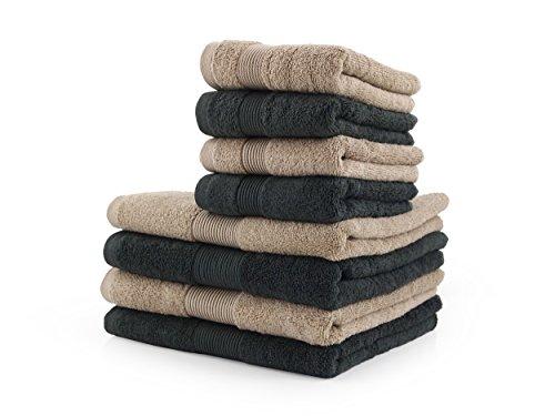 Set Asciugamano 8 Pezzi Zucchi Home Fashion VAR. Asfalto e Corda + tavoletta Profumo Biancheria per armadi by biancocasa