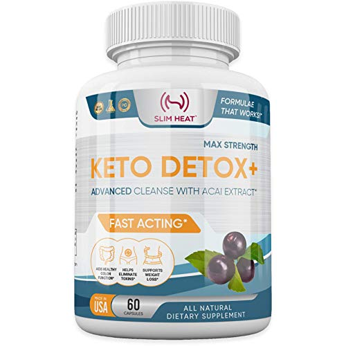 Advanced Keto Colon Cleanser & Detox for Weight Loss - Aids Healthy Colon Function & Eliminate Toxins - Pure Ketogenic Colon Detox Pills with Acai Berry Extract for Men & Women - 60 Capsules