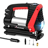 Avid Power Tire Inflator Air Compressor, 12V DC Car Tire Pump with LED Light, Digital LCD Display, Auto Shut Off