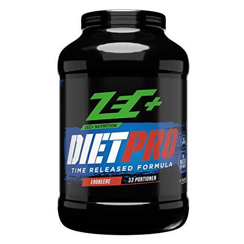 ZEC+ Dietpro - 1000 g Protein-Shake für ideale Proteinversorgung, mit Whey Protein, Casein, Ei Protein & Aminosäuren, Geschmack Erdbeere