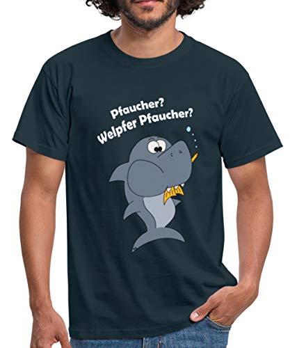 Taucher Lustig Tauchen Fisch Pfaucher Witziges Männer T-Shirt, XXL, Navy