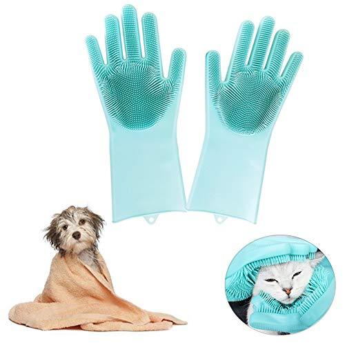 Manopla para Gatos Cepillo para Perros Perro masajeador Guante Cepillo de Aseo para Mascotas Guantes Manos en Mascota Deshedding Cepillo Guante
