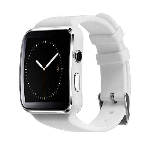 mobicell Smart Watch X6 Bluetooth Smartwatch Compatible with All Mobile Phones for Boys and Girls (White)