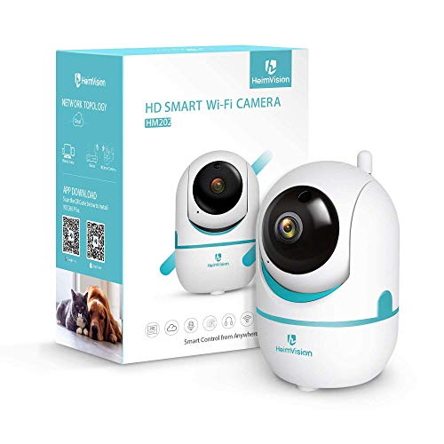 WANGOFUN WiFi Home Security Camera, Draadloze IP Beveiligingscamera met Bewegingsdetectie Nachtzicht Afstandsbediening Twee-weg Audio voor Baby Huisdier