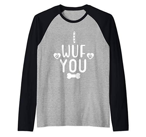 I Wuf You Shirt,Funny Dog Lover Shirts for Woman,Teen Girls Camiseta Manga...