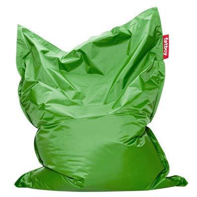 Fatboy® Original grün Nylon-Sitzsack| Klassischer Indoor Beanbag, Sitzkissen | 180 x 140 cm