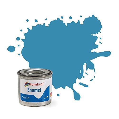 Humbrol 14ML Nr. 1TINLET Emaille Paint, Flasche 48(Mediterraner blau glänzend)