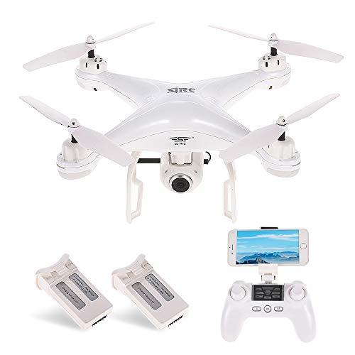Goolsky SJ R C S20W 1080P (GPS) FPV Regolabile 1080P HD Camera Wide Angle RTF Doppio GPS Posizionamento Altitude Hold Drone w   Due batterie