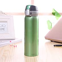 Creative Stainless Steel Bouncing Cap Insulation Cup Warm Water Bottle Outdoor Convenient Water Cup Business Gift Cup 500Ml Green