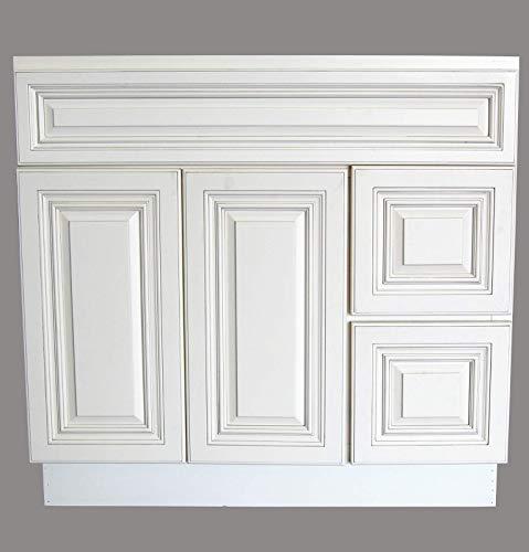 New Atique White Single-sink Bathroom Vanity Base Cabinet 36' Wide x 21' Deep AW-V3621D