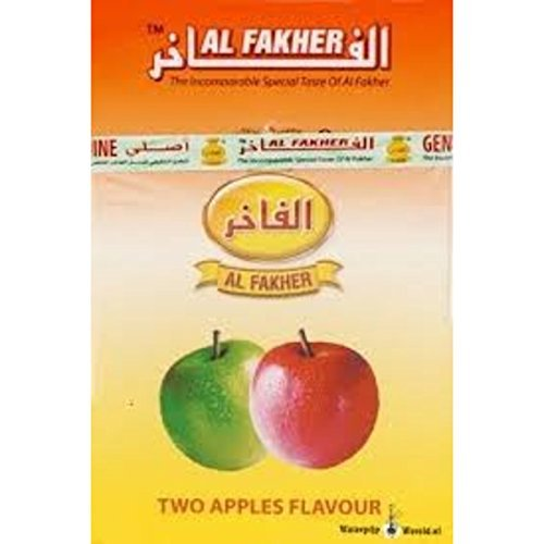Al Fakher 2 Two Apple Flavour for Hookah/Hukka/Hookha, 2 Free Charcoal