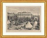 Kunstdruck Pilditz.Kiosk Residencia des Sultans Abdul-Hamid Jardín punto de madera E 18229 enmarcada