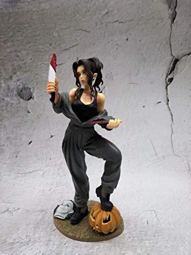 Zqcay Modelo De Personaje Estatua Serie Halloween Michael Myers 22Cm. PVC Figuras De Accion Coleccion Modelo De Juguete PVC Modelo Arte Juguetes De Accion Adornos De La Decoracion del Restaurante