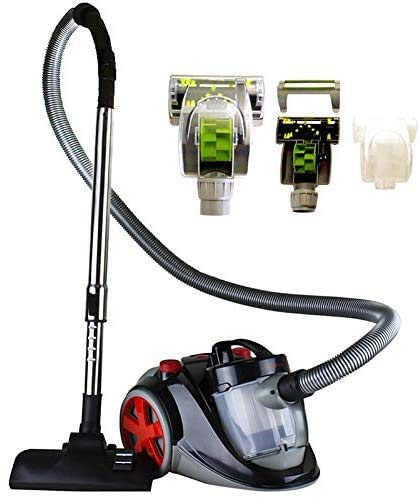 OVENTE ST2010 Featherlite Cyclonic Bagless Canister Vacuum with Hepa Filter and Sofa Brush