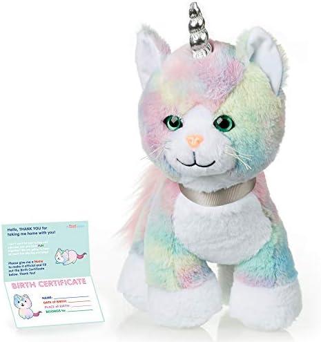 Cat Stuffed Animal Rainbow Caticorn Kitten Unicorn Plush Animals Toy product image