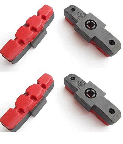 2 Paar Power Pads Rot für Magura Hydraulische Felgenbremse HS11 HS33 HS22 (4 Beläge)