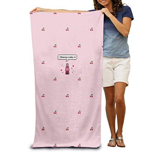 Toalla de Playa de Microfibra Wrap Cherry Coke Toallas de SPA absorbentes Toalla de Ducha para Mujeres y Hombres