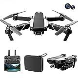Dron 4K con cámara dual, adecuado para principiantes adultos, modo sin cabeza de mantenimiento de altura de cuadricóptero RC, control de la aplicación con una tecla fuera del suelo, tiempo de vuelo pr