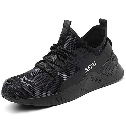 Morbuy Zapatos de Seguridad para Hombre con Puntera de Acero, Morbuy Transpirable...