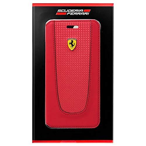 Ferrari Pit Stop Collection Ultra Delgado PU Carbono Billetera Dura Y TPU Funda De Marco De Goma para Apple iPhone 8...