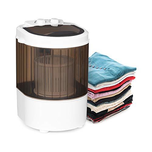 Klarstein Dash Duo Waschmaschine, Leistung: 180 Watt, Waschen: 2,5kg, Schleudern: 1kg, Timer: 0-15 Minuten, Schuhbürsten-Funktion, schwarz