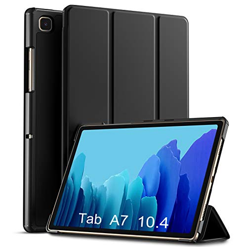 Upeak Case Compatible with Samsung Galaxy Tab A7 Tablet Case 10.4 Inch 2020(SM-T500/T505/T507), Hard PC Back with Super Slim Lightweight Trifold Stand Folio Case Cover, Auto Sleep/Wake, Black