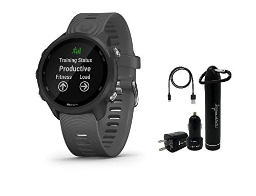 Lowest Price! Garmin Forerunner 245 GPS Running Smartwatch with included Wearable4U Power Pack Bundl...