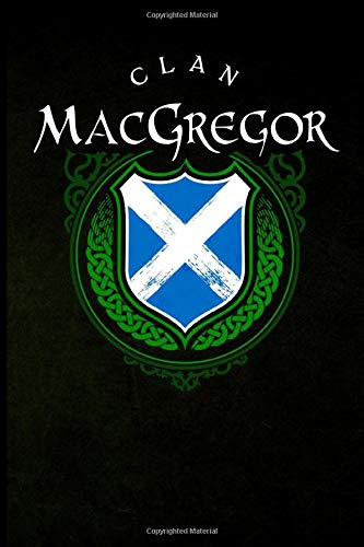 Clan MacGregor: Scottish Clan St. Andrew's Cross Shield - Blank Lined Journal with Soft Matte Cover