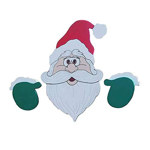 KPJSJ Clôture Père Noël Décoration Père Noël Et Elk Clôture De Noël Peeker Vacances Décoration Extérieure Durable Réutilisable